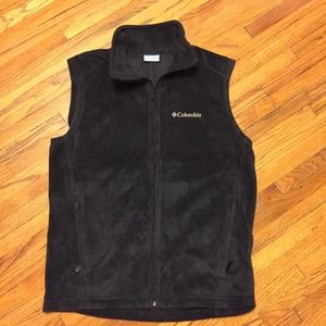 Columbia black fleece vest